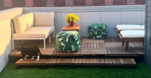 Ipe Deck Tiles with Pedestals